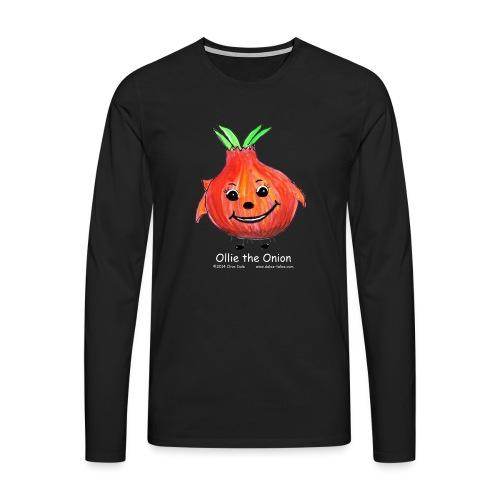 mens black T-shirt Ollie the Onion - Men's Premium Longsleeve Shirt