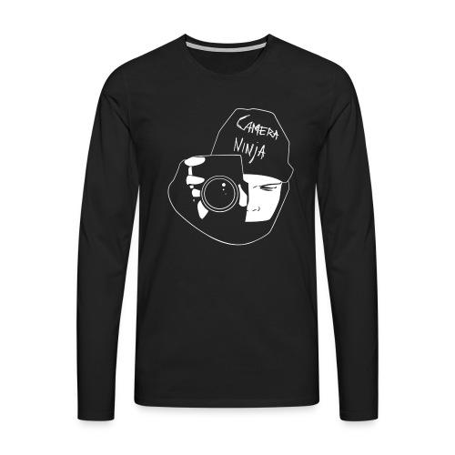 Camera Ninja Reversed - Men's Premium Longsleeve Shirt