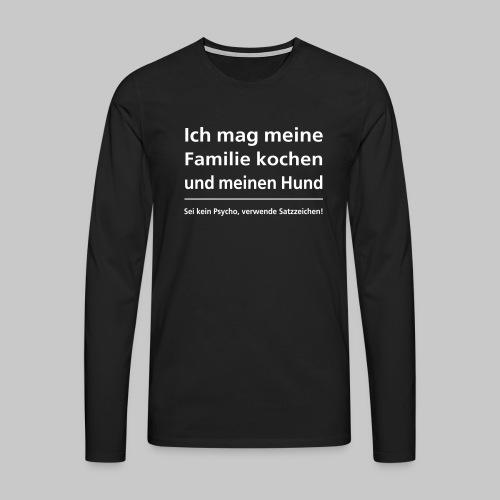 familie kochen - Männer Premium Langarmshirt