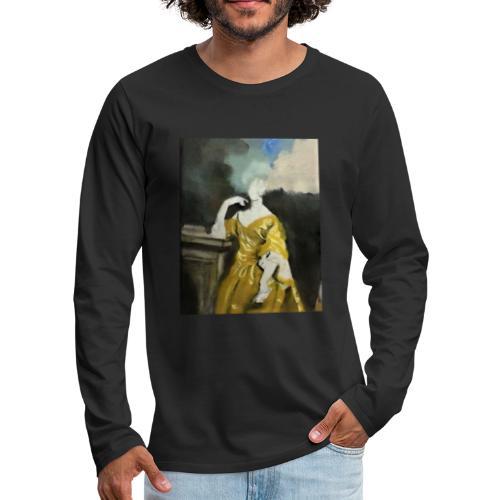 Donna sognatrice, in giallo - Maglietta Premium a manica lunga da uomo