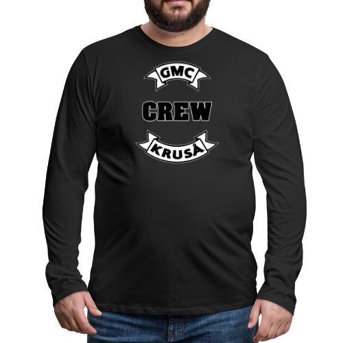 GMC CREWSHIRT - KUN FOR / CREW MEMBERS ONLY - Herre premium T-shirt med lange ærmer