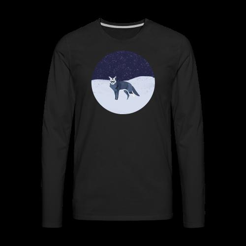 Blue fox - Miesten premium pitkähihainen t-paita