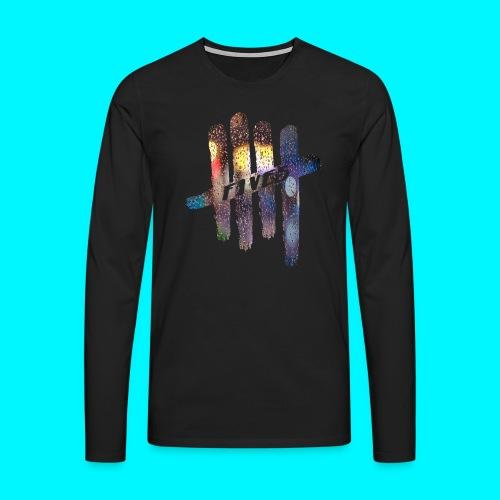 FIVES color rain - T-shirt manches longues Premium Homme
