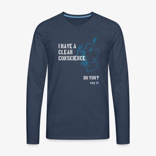 Clear Conscience - Men's Premium Longsleeve Shirt