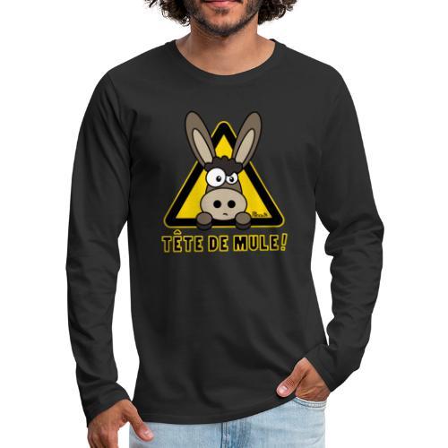 Âne, Tête de mule, tetu - T-shirt manches longues Premium Homme