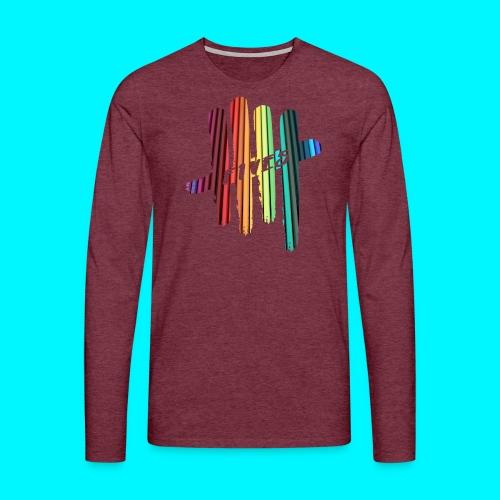 FIVES color stripes - T-shirt manches longues Premium Homme