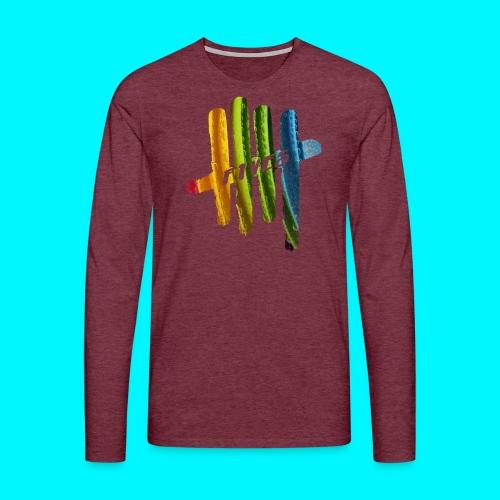 FIVES color bubbles - T-shirt manches longues Premium Homme