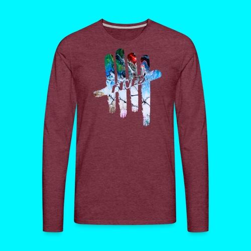 FIVES abstarct - T-shirt manches longues Premium Homme
