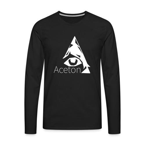 Aceton white png - Männer Premium Langarmshirt