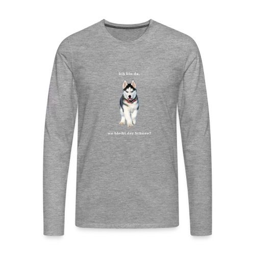 Husky Welpen mit bezaubernden Augen - Männer Premium Langarmshirt