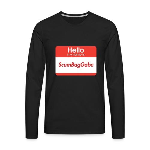 Hello My Name Is ScumBagGabe - Men's Premium Longsleeve Shirt