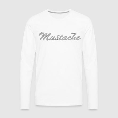 White Lettering - Men's Premium Longsleeve Shirt