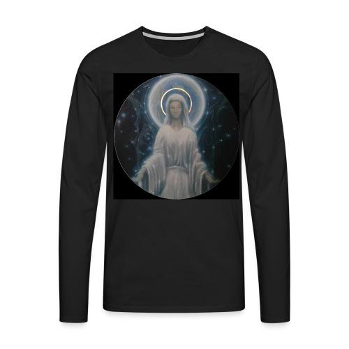 圣母玛利亚 Notre Dame by Jean Libon (Noir) - T-shirt manches longues Premium Homme