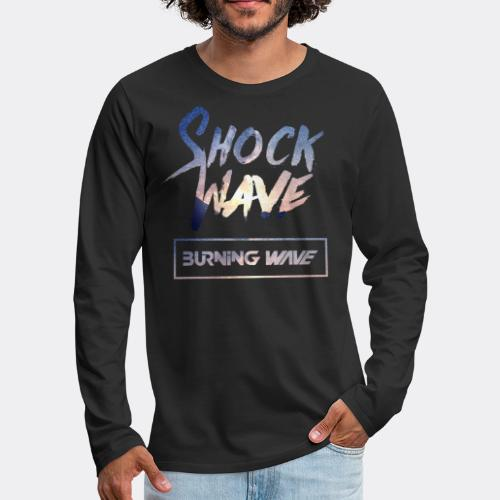 Burning Wave - Shock Wave - T-shirt manches longues Premium Homme