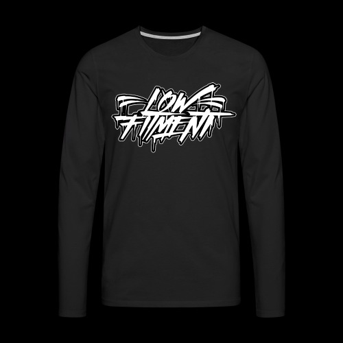 LFnewBLACKWHITE - Mannen Premium shirt met lange mouwen