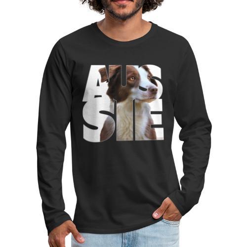 Aussie I - Miesten premium pitkähihainen t-paita