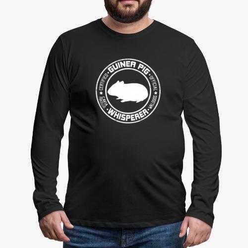 Marsewhisperer White - Miesten premium pitkähihainen t-paita