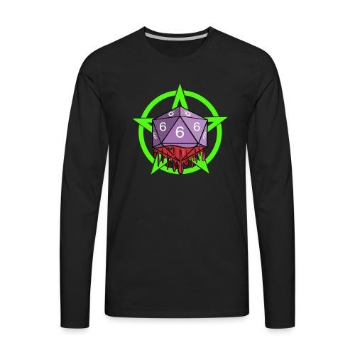 Würfel RPG Spiel Rollenspiele 666 mit Pentagramm - Männer Premium Langarmshirt