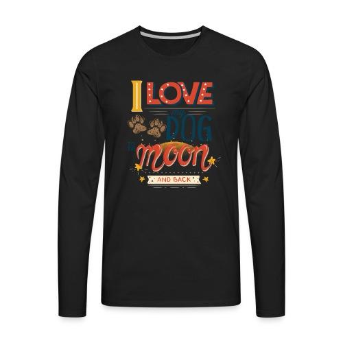 Moon Dog Light - Långärmad premium-T-shirt herr