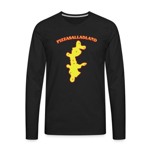 Pizzasalladland - Långärmad premium-T-shirt herr
