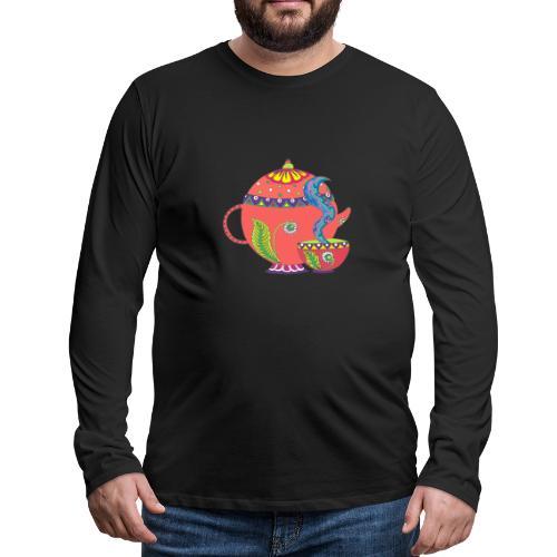 L'heure du thé - T-shirt manches longues Premium Homme