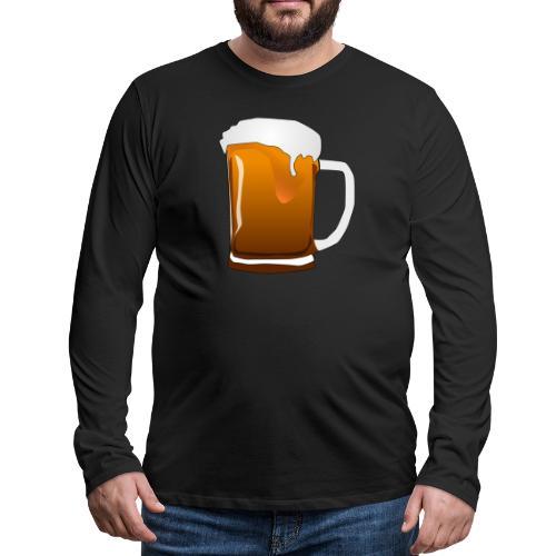 Cartoon Bier Geschenkidee Biermaß - Männer Premium Langarmshirt