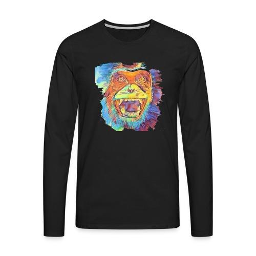 Monkey - Männer Premium Langarmshirt