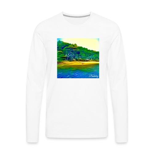 Tropical beach - Maglietta Premium a manica lunga da uomo