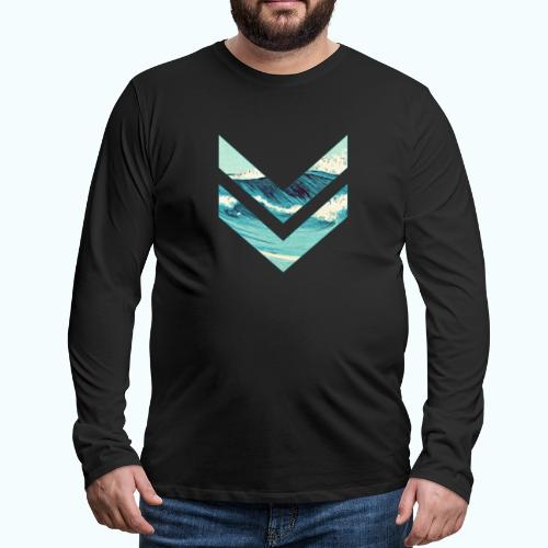 Wellenreiter rhombus - Men's Premium Longsleeve Shirt
