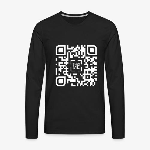 QR code (white) - Men's Premium Longsleeve Shirt