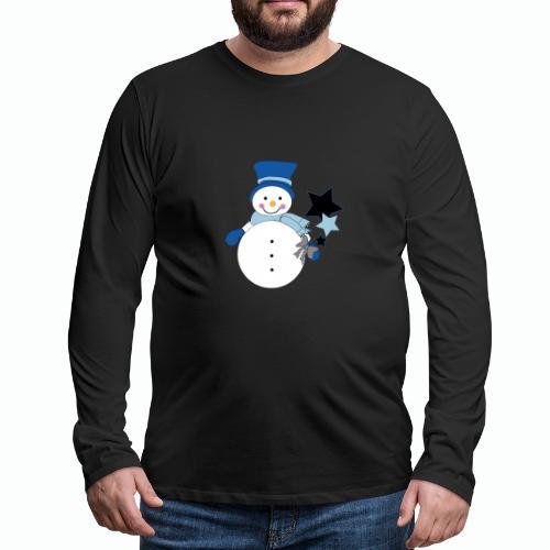 Snowtime-Blue - Männer Premium Langarmshirt
