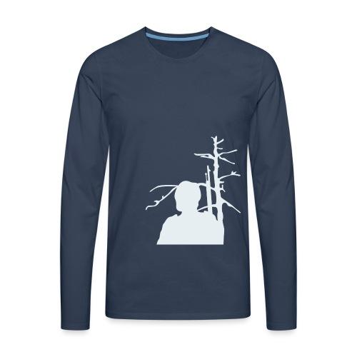 Sotilas - Miesten premium pitkähihainen t-paita