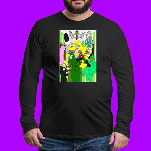Miss Beauty Halloween 2019 - Mannen Premium shirt met lange mouwen