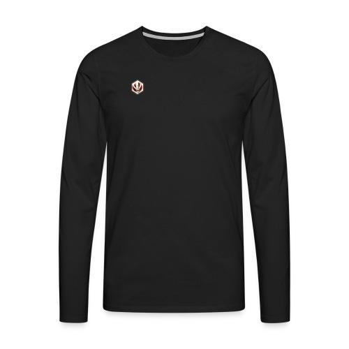 6 HOEKIGE LOGO - Mannen Premium shirt met lange mouwen