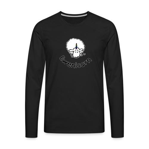 Ewenicorn (testo nero in edizione nera) - Maglietta Premium a manica lunga da uomo