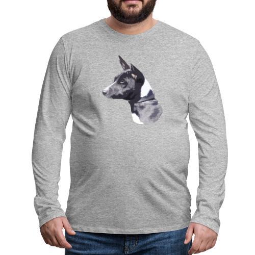 basenji black - Herre premium T-shirt med lange ærmer