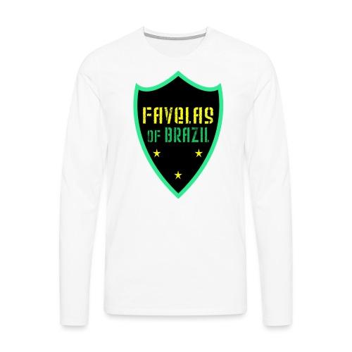 FAVELAS OF BRAZIL NOIR VERT DESIGN - T-shirt manches longues Premium Homme
