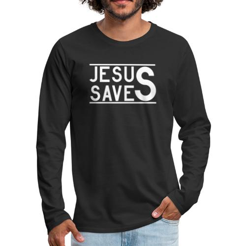 Jesus Saves - Männer Premium Langarmshirt