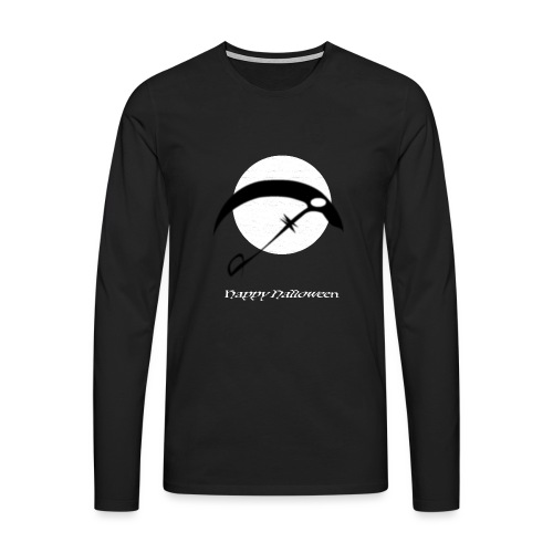 Halloween sickle in the night - Männer Premium Langarmshirt