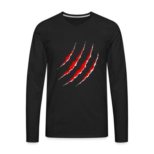 Scars - Herre premium T-shirt med lange ærmer