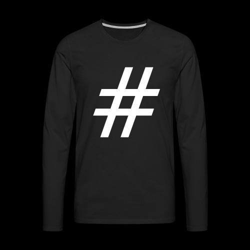 Hashtag Team - Männer Premium Langarmshirt