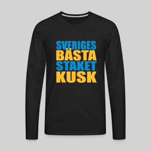 Sveriges bästa staketkusk! - Långärmad premium-T-shirt herr