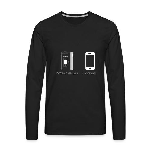 walkman analog - phone 1&0s - Men's Premium Longsleeve Shirt