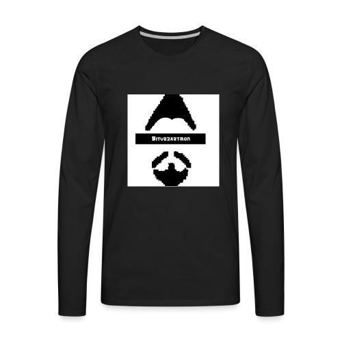 Biturzartmon Logo schwarz/weiss asiatisch - Männer Premium Langarmshirt