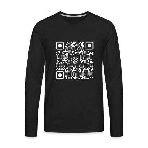 QR Safenetforum White - Men's Premium Longsleeve Shirt