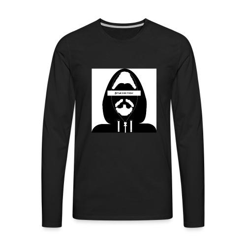 Biturzartmon Hoodie Motiv schwarz/weiss - Männer Premium Langarmshirt