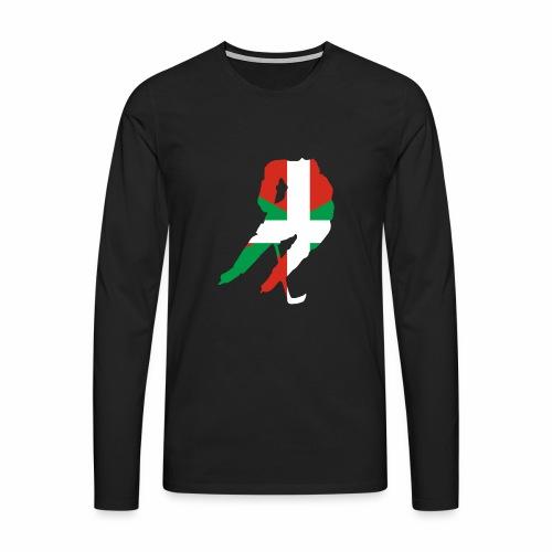 hockeyeur et basque - T-shirt manches longues Premium Homme