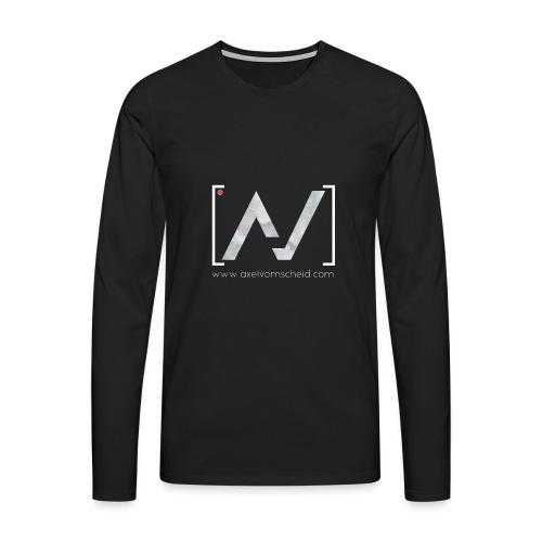logoalpha blanc - T-shirt manches longues Premium Homme