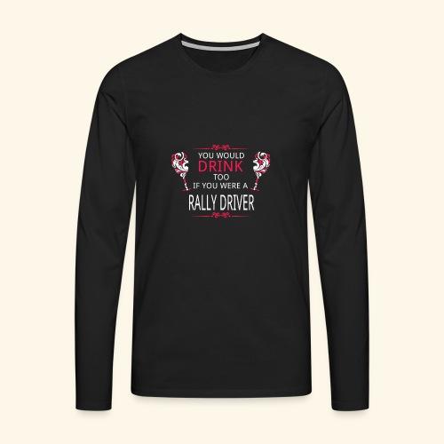 RALLY - Maglietta Premium a manica lunga da uomo