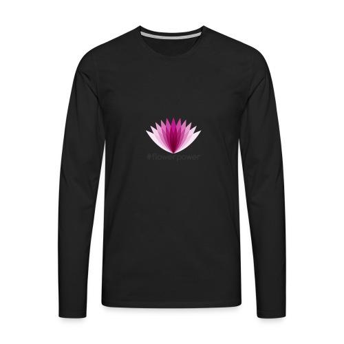 #flowerpower - Men's Premium Longsleeve Shirt